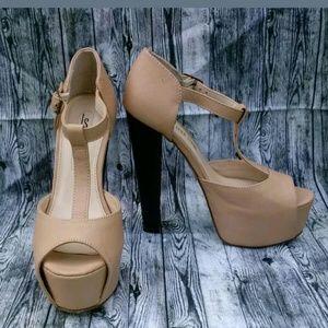 LEILA STONE Open Toe High Heel Platform Shoes